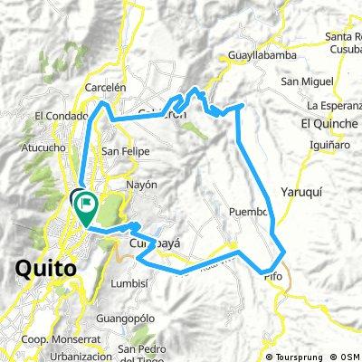 Ruta Cruz del Papa - Calderón - Collas - Aeropuerto - Pifo - Cumbayá - Antiguo partidero de Tumbaco
