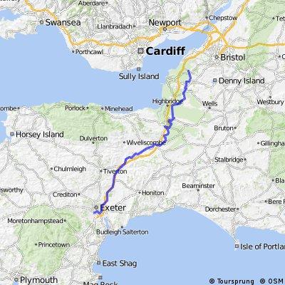LEJOG Day 3 - Exeter to Yatton