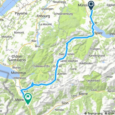 1. Etappe: Oberdiessbach Le Lavandou