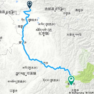 itinéraire bis Langmusi Songpan