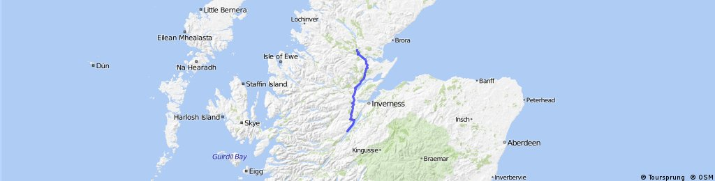 LEJOG Day 13 - Loch Ness YH to Carbisdale YH
