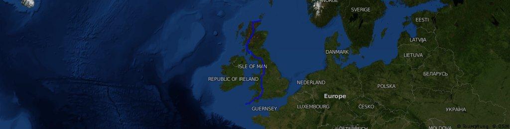 Al Pewsey's 15 day Lands End to John O'Groats via The Isle of Arran