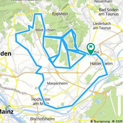 Kriftel - 5 x Langenhain - Hochheim - Hattersheim