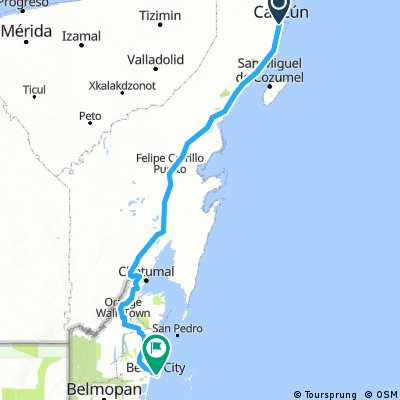 Belize City to Corozal