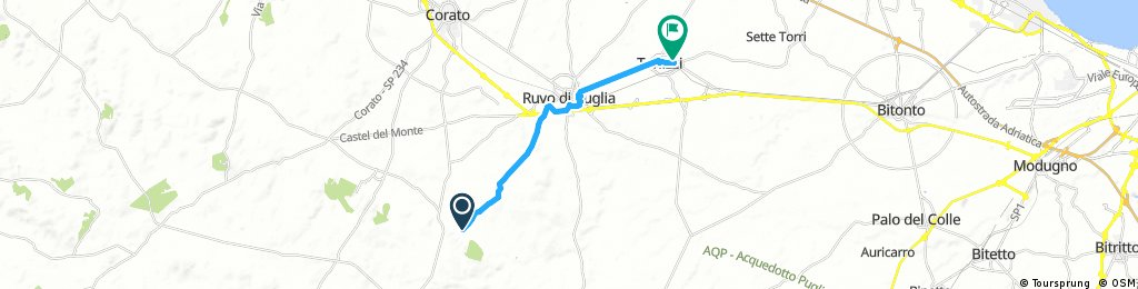 bike tour from Ruvo di Puglia to Terlizzi