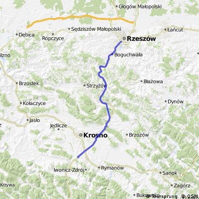 Trasa Rzeszów - Rogi