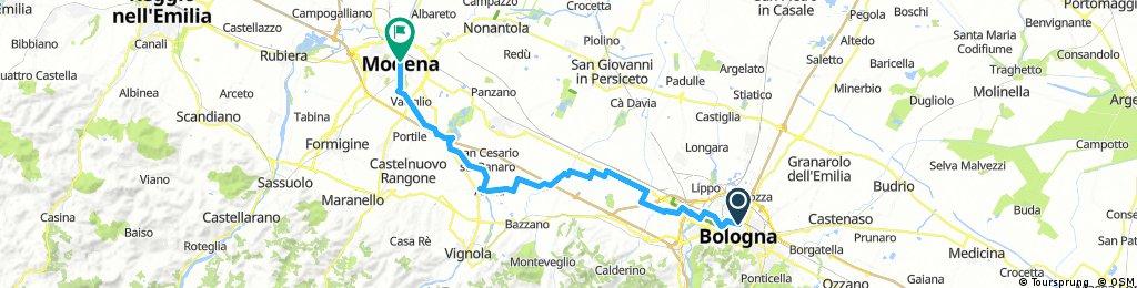 Bologna MOdena - 2° ipotesi