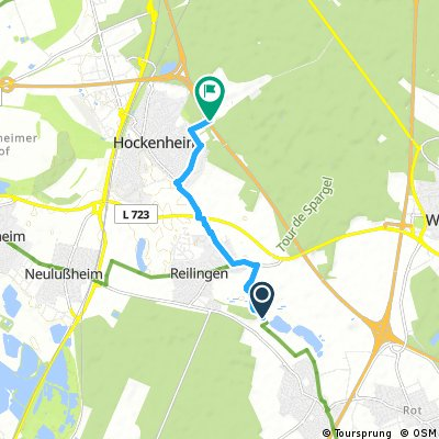 Kurze Radrunde von Sankt Leon-Rot nach Hockenheim