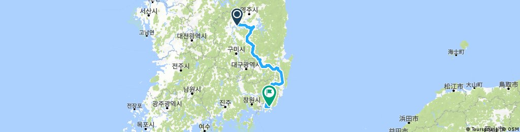 Seoul-Busan bikeroute South part (With Andong-Gyeongju)