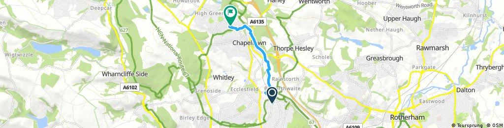 Short ride through Sheffield