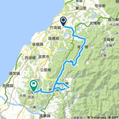 Toufen to Sanyi via Nanzhuang and Taian