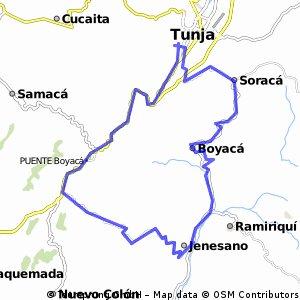 Ride Km Long Cycling Route In Tunja Bikemap Your Bike Routes - Tunja map