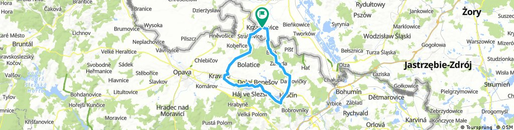 Krzanowice-Hlucin-Kravare-Krzanowice