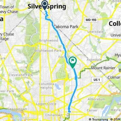 Silver Spring to NoMa most direct