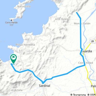 Long bike tour through Carrillo