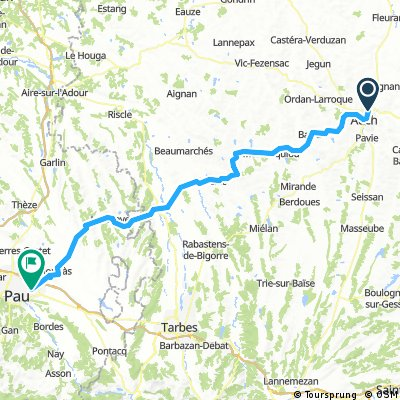 2016 Ride Day 171 - Auch to Pau