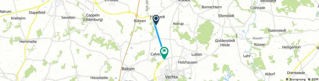 Kurze Ausfahrt von Visbek nach Vechta
