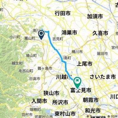 森林公園駅 to ららぽーと富士見 39.54km