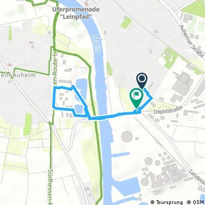 Schnelle Ausfahrt durch Hanau