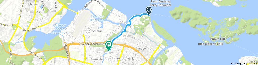 Test ride from home to punggol end