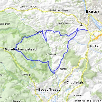 Quiet circular ride, Exeter to Kennick Resr and back