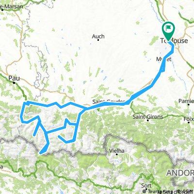 Trajet effectue - Pyrenees - Oct 2016