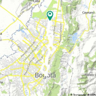 Long ride through Bogotá