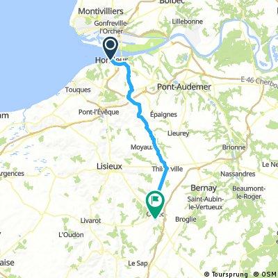 Honfleur - Orbec (Tour du Pays d'Auge, Etape 2)