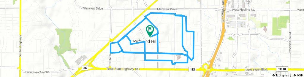 ride through Richland Hills