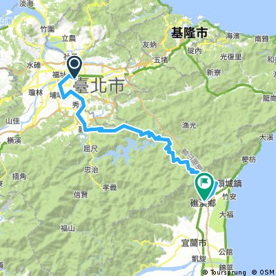 Biking Taiwan, Taipei to Yilan Route A