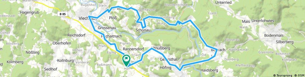 Kollnburg - Böbrach - Asbach - Viechtach