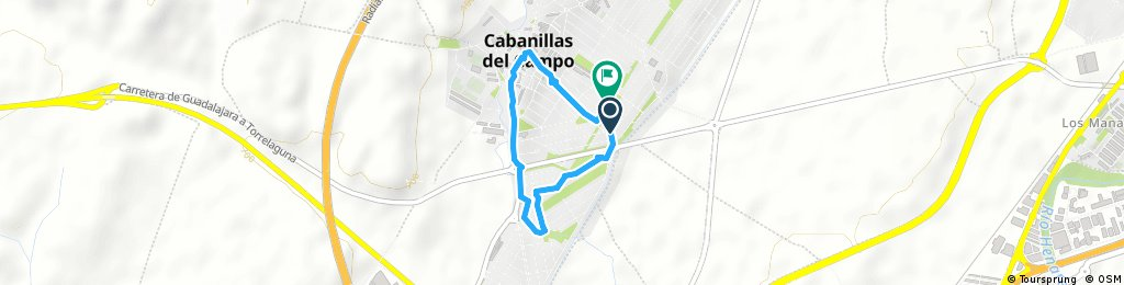 Short bike tour through Cabanillas del Campo