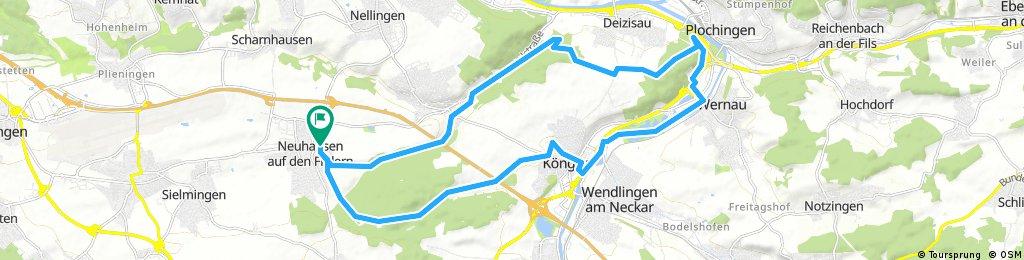 Körsch-Fischerseen-Köngen-Runde