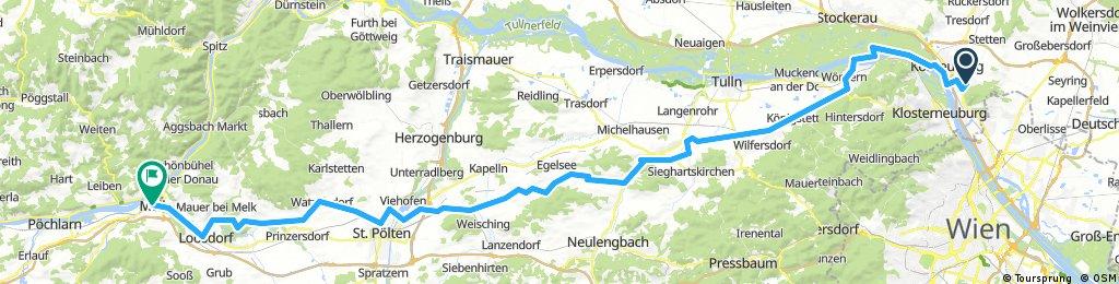 Fernfahrt Bisamberg Wals Allerheiligen 2016 Tag 1 Bisamberg Melk