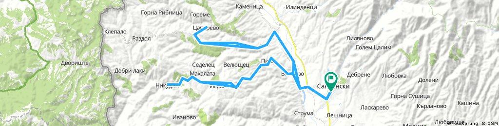 Сандански-Микрево-Цапарево-Вълково-Никудин-Сандански