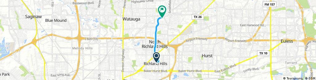 Path to Mid Cities Bike Path