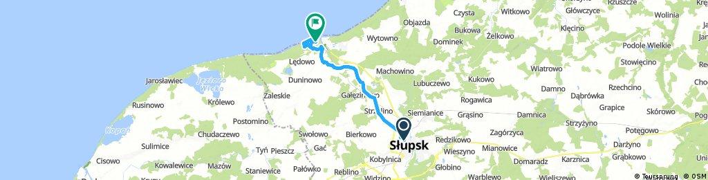 bike tour from Słupsk to Ustka