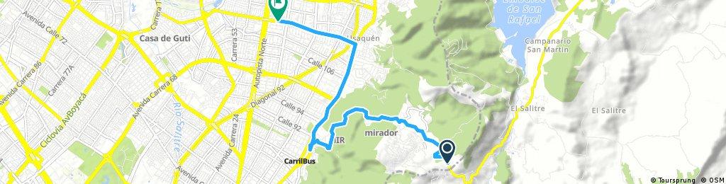 bike tour from Choachí to Bogotá