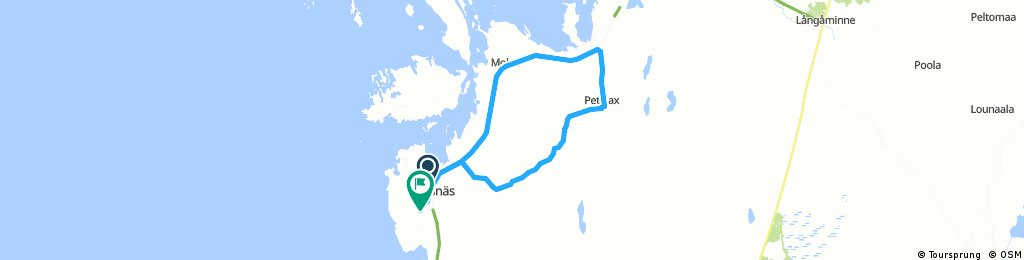 Long ride from Korsnäs to Petalax and back