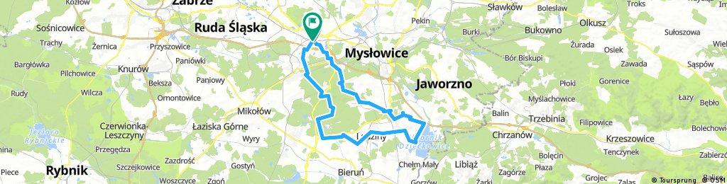 Wycieczka rowerowa na obrzeża aglomeracji śląskiej [opcja dłuższa]