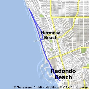 Cycling routes and bike maps in and around Redondo Beach Bikemap