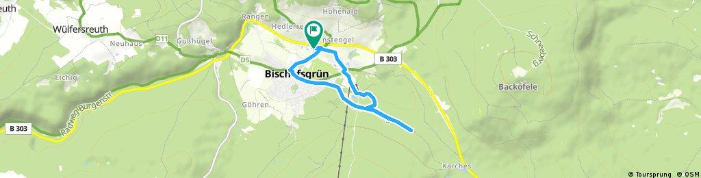 Schnelle Radrunde durch Bischofsgrün