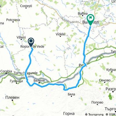 Rosiorii de Vede - Turnu Magurele - Nikopol - Svishtov - Ruse - Bucuresti