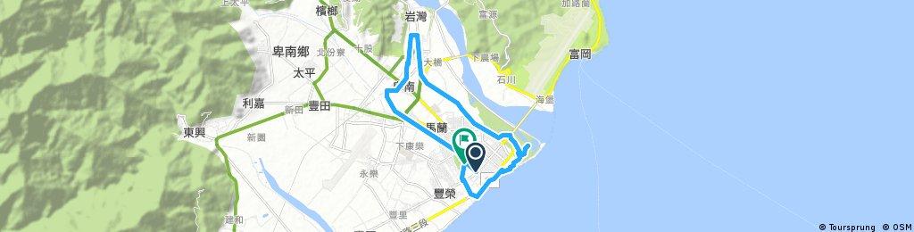 Biking Taiwan, Taitung City Day Trip Route A