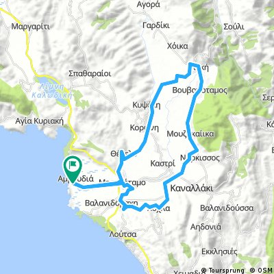 Cycling Routes And Bike Maps In And Around Parga Bikemap Your