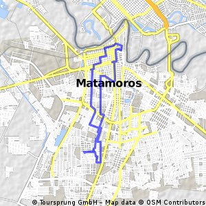 Cycling routes and bike maps in and around Heroica Matamoros ...