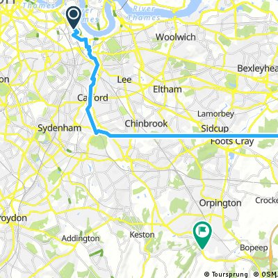 Deptford to Orpington