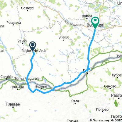 Rosiorii de Vede - Turnu Magurele - Nikopol - Zimnicea - Giurgiu - Bucuresti