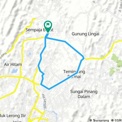 Cycling routes and bike maps in and around Samarinda ...