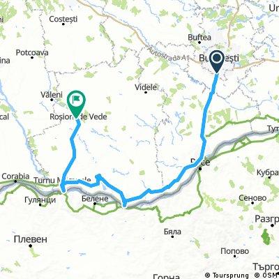 Bucuresti - Giurgiu - Zimnicea - Turnu Magurele - Rosiorii de Vede